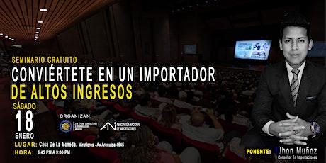 Conviértete En Un Importador De Altos Ingresos | Seminario Gratis entradas