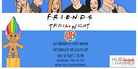-ON HIATUS - Monthly Friends Trivia Night - Free to Play tickets