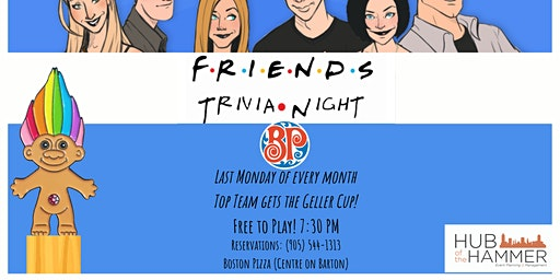 Monthly Friends Trivia Night - Free to Play