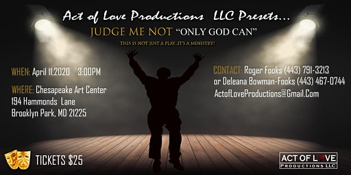 """""""Judge Me Not...Only God Can"""""""