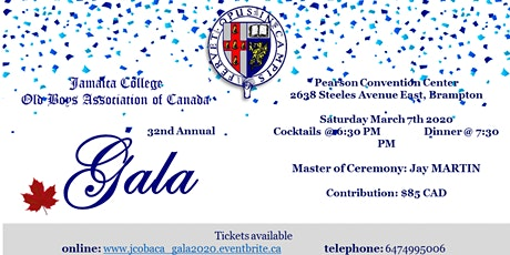 Jamaica College Old Boys Association of Canada Gala 2020 tickets