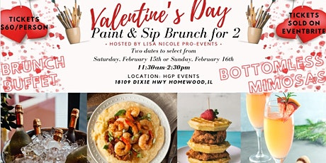Valentine's Day Paint & Sip Brunch for 2 tickets