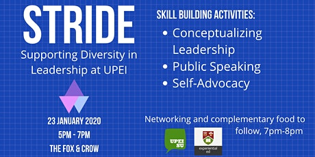STRIDE: Supporting Diversity in Leadership at UPEI tickets
