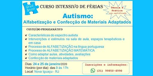 Curso intensivo - AUTISMO: alfabetização e confecção de materiais adaptados (teoria e prática)