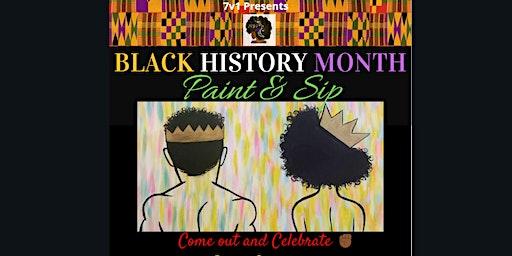 7v1 Presents Black History Month Paint & Sip