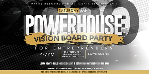 Powerhouse Professional Vision Board Party
