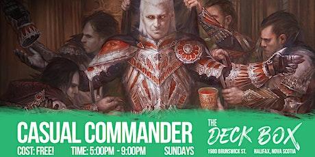 Casual Commander tickets