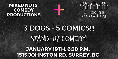 3 Dogs 5 Comics! tickets