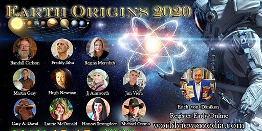 Earth Origins 2020 Fri.-Sun. May 15-17, 2020 Lower Front Rows E-K