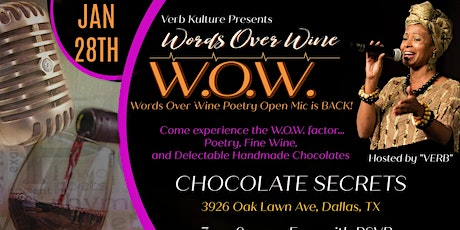 Verb Kulture Presents: W.O.W. (Words Over Wine) Poetry Open Mic tickets