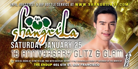 ShangriLa 13th Anniversary Glitz & Glam tickets