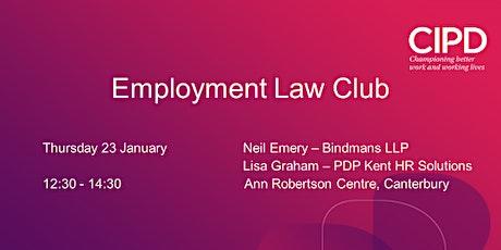 Employment Law Club January 2020 tickets
