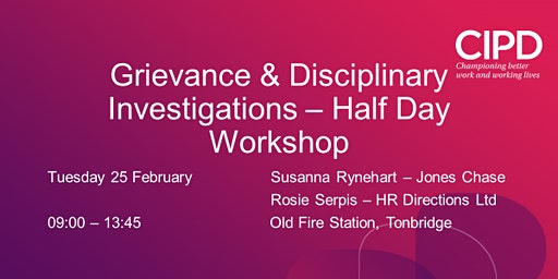 Grievance and Disciplinary Investigations - Half Day Workshop