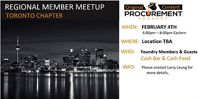 Greater Toronto, Canada Member Meetup February 2020