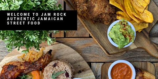 Jam  Rock. Bottomless Punch for 2 people.  Authentic Jamaican Street  Food