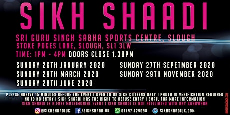 Sikh Shaadi UK (Slough) tickets