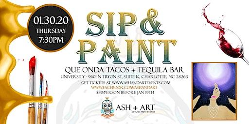 Paint, Pour, and Party - A festive SIP + PAINT Event  - UNIVERSITY