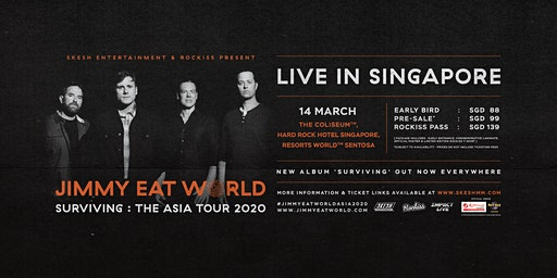 Jimmy Eat World Live In Singapore 2020