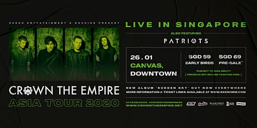 Crown The Empire Live In Singapore 2020