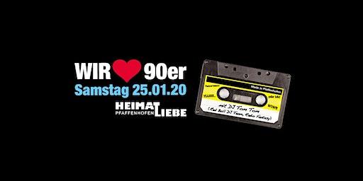 Wir lieben 90er - Pfaffenhofens größte 90er Party I Januar 2020!