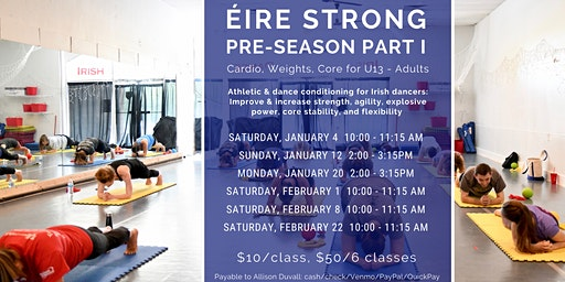 Éire Strong: Cardio, Weights, Core - Free Trial Class