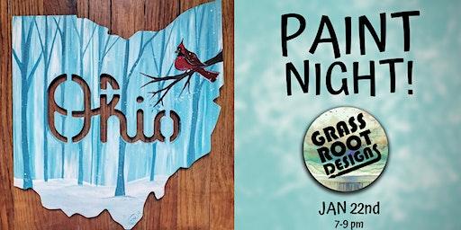 Ohio Winter Cardinal| Paint Night!