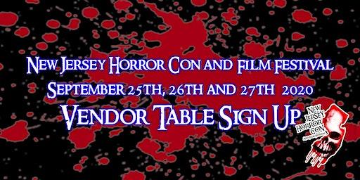 Vendor Registration NJ Horror Con & Film Festival - FALL 2020