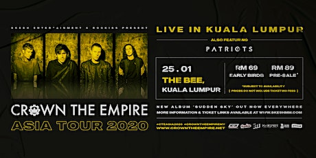 Crown The Empire Live In Kuala Lumpur 2020 tickets