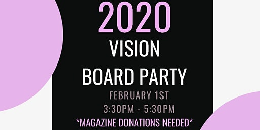Women to Woman's 2020 Vision Board Party
