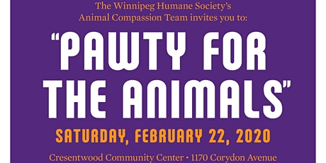 The Winnipeg Humane Society's 'Pawty For the Animals' tickets