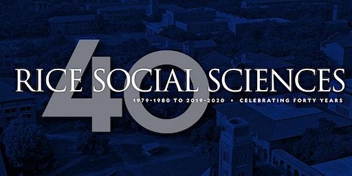 School of Social Sciences 40th Anniversary Faculty Lightning Talks