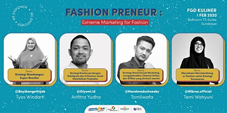 FGD Fashion dengan tema: Extreme Marketing for Fashion tickets