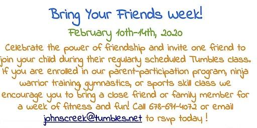 Bring a Friend Week - Tumbles