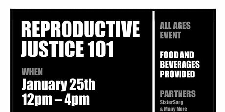 Community Reproductive Justice 101 tickets