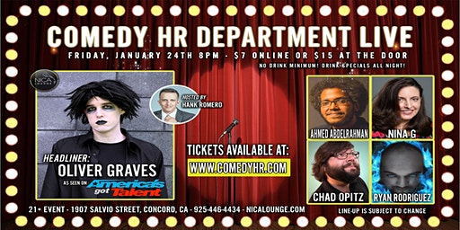 Comedy HR Department LIVE! Concord, CA - January