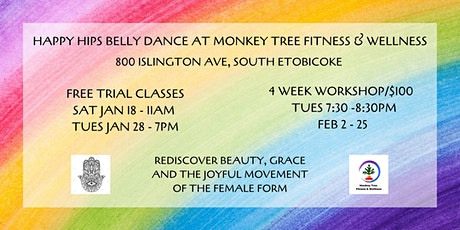 Happy Hips Belly Dance at Monkey Tree Fitness and Wellness tickets