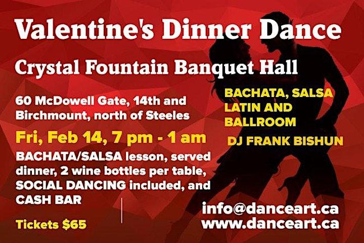 Valentine's  Bachata ,Salsa,Latin,Ballroom  Dance party image