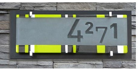 Glass Fused House Sign tickets
