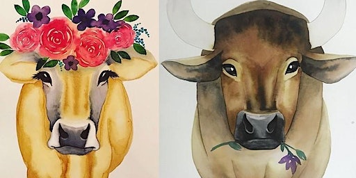 Bull/Heifer His and Hers Paint and Sip