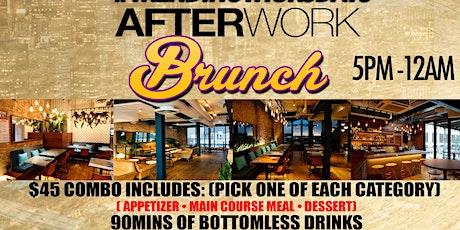 TRENDING THURSDAYS AFTERWORK BRUNCH • 3 COURSE MEAL • BOTTOMLESS DRINKS tickets