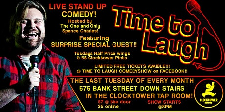 Time To Laugh Comedy  at Clocktower JAN 28th tickets