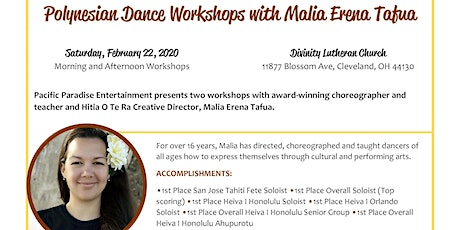 Polynesian Dance Workshops with Malia Erena Tafua tickets