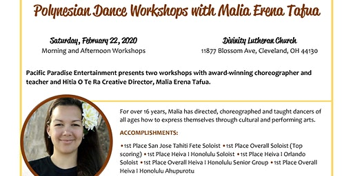Polynesian Dance Workshops with Malia Erena Tafua
