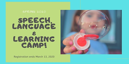 Spring Break 2020: Intensive Speech, Language & Learning Clinic
