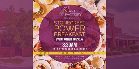AEI StartUp Factory : Stonecrest Power Breakfast tickets