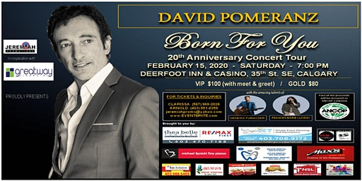 "David Pomeranz ""Born For You"" 20th Anniversary Concert Tour"