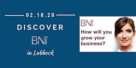 Discover BNI in Lubbock tickets