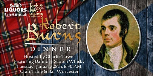 Robert Burns Scotch Dinner at Craft Table and Bar Worcester