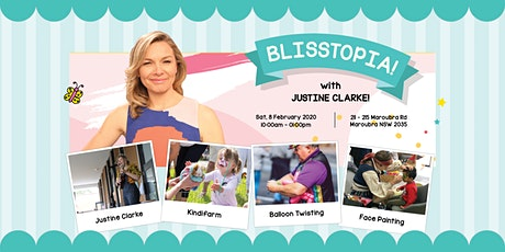 Meet Justine Clarke at Bliss Maroubra's Family Fun Day! tickets