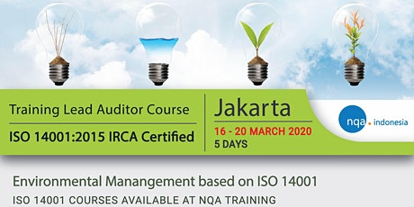 Lead Auditor Course ISO 14001:2015 - IRCA Registered - IDR 7.990.000,- tickets
